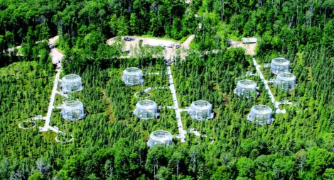 Aerial View of Spruce Project Site