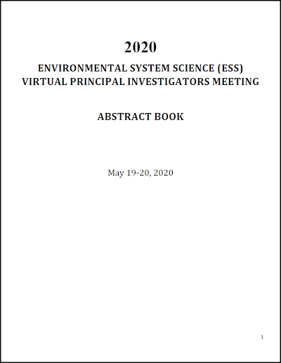 2020 ESS Virtual PI Meeting Abstracts